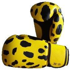 Boxhandschuhe getigert gelb