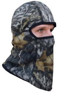 Kopfmaske tarnfarben mit Wärmer