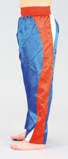 Kickboxhose blau/rot/weiß, 150 cm