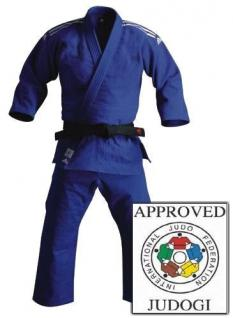 Judoanzug adidas Champion IJF blau - Vorschau 1