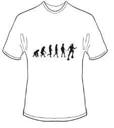 T-Shirt Evolution Tauchen Farbe weiss