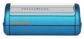 Stempel modico 4 Pocket Gehäuse metallicblau, Abruckgröße 57 x 20mm - Vorschau 1