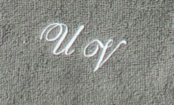 Seiftuch 30x30 cm New York anthrazit mit Intitialienbestickung weiß 0010 - Vorschau 1