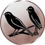 Emblem Singvögel, 50mm Durchmesser - Vorschau 1