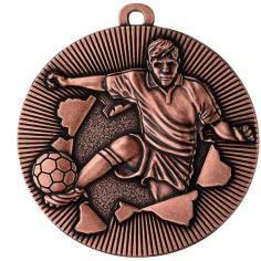 Medaille Fussball Ø50mm bronze - Vorschau