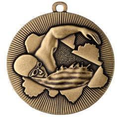 Medaille Schwimmen Ø50mm gold