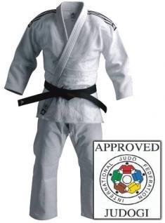Judoanzug adidas Champion IJF weiß - Vorschau 1