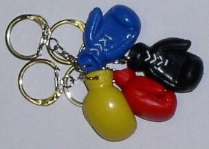 Schlüsselanhänger Mini Boxhandschuhe schwarz - Vorschau