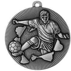 Medaille Fussball Ø50mm silber - Vorschau
