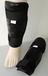 Schienbeinschützer schwarz, Gr. XL