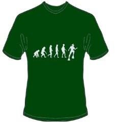 T-Shirt Evolution Tauchen Farbe forestgrün