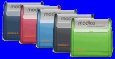 Stempel modico 2 Gehäuse metallicblau, Abruckgröße 37mm x 11mm - Vorschau 2