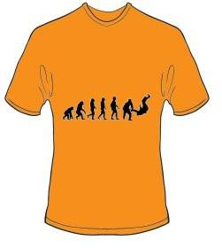 T-Shirt Evolution Judo Farbe orange 1