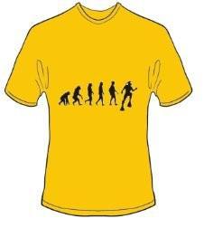T-Shirt Evolution Tauchen Farbe goldgelb - Vorschau 1
