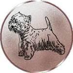 Emblem Westhighland-Withe Terrier, 50mm Durchmesser - Vorschau 1