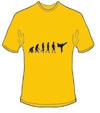 T-Shirt Evolution Karate Farbe goldgelb - Vorschau