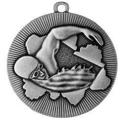 Medaille Schwimmen Ø50mm silber