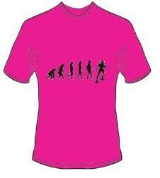 T-Shirt Evolution Tauchen Farbe pink - Vorschau