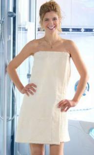 Saunakilt - Sarong für Damen Farbe weiß - Vorschau