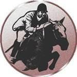 Emblem Springreiten, 50mm Durchmesser - Vorschau 1