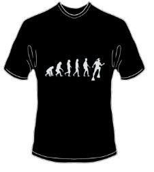 T-Shirt Evolution Tauchen Farbe schwarz - Vorschau 1