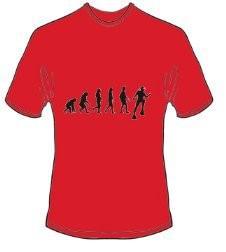 T-Shirt Evolution Tauchen Farbe rot
