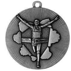 Medaille Rennen Ø50mm silber