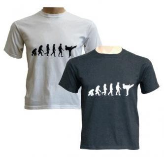 T-Shirt Evolution Karate Farbe schwarz