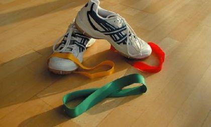 Trainingsband Rubber Band grün (stark) - Vorschau 1