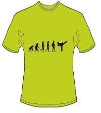 T-Shirt Evolution Karate Farbe kiwigrün
