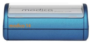 Stempel modico 14 Gehäuse metallicblau, Abruckgröße 98 x 69mm - Vorschau 1