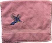 Handtuch aus Frottee mit Bestickung Kolibri