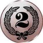 Emblem Zahl 2, 50mm Durchmesser