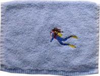 Handtuch aus Frottee mit Bestickung Taucherin