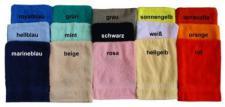 Handtuch aus Frottee mit Namensbestickung
