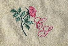 Handtuch aus Frottee mit Stickmotiv Blume und Ihre Initialien