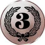 Emblem Zahl 3, 50mm Durchmesser