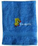 Handtuch aus Frottee mit Bestickung Ente und Ihrem Vornamen