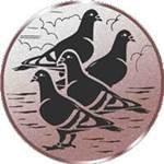 Emblem 4 Tauben, 50mm Durchmesser
