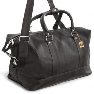 Jahn-Tasche - Kleine Reisetasche / Weekender aus Nappa-Leder, Schwarz, Modell 698