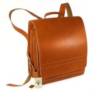 Jahn-Tasche - Sehr Großer Lederrucksack / Lehrer-Rucksack Größe XL aus Leder, Cognac-Braun, Modell 670