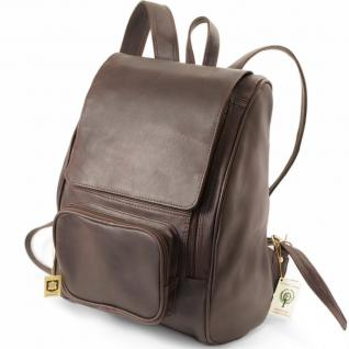 Jahn Tasche - Großer Lederrucksack / Laptop Rucksack bis 15, 6 Zoll, Braun, Modell 711