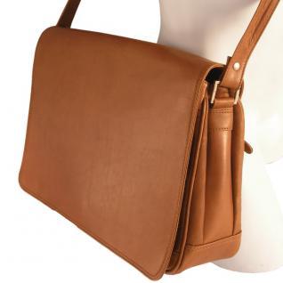 Branco - Damen-Handtasche Größe M / Umhängetasche aus Echt-Leder, Cognac-Braun, Modell 5584