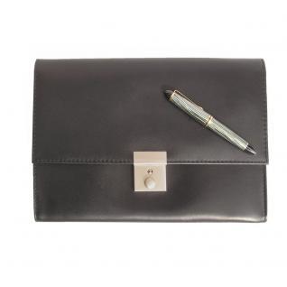 jahn tasche a5 dokumentenmappe dokumententasche aus leder schwarz modell 1021 kaufen. Black Bedroom Furniture Sets. Home Design Ideas