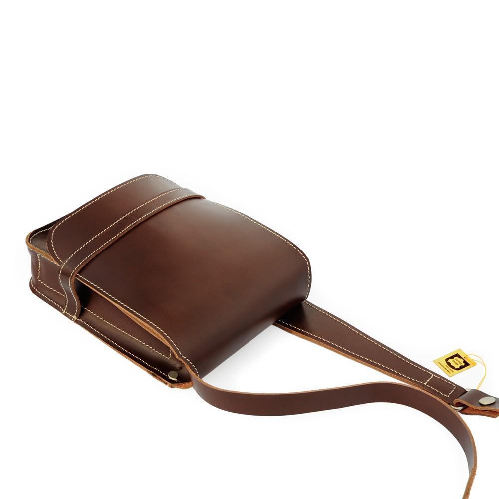 jahn tasche kleine herren handtasche umh ngetasche in a5 aus leder braun modell 684. Black Bedroom Furniture Sets. Home Design Ideas