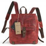Harolds - Kleiner Lederrucksack Größe S / Rucksack Handtasche aus Leder, Rost-Rot, Modell 255802