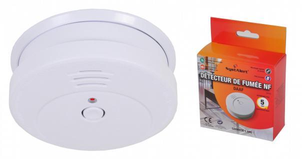 SystAlert® Rauchmelder mit Batterie 5 Jahre Feuermelder Rauchwarnmelder 85 dB