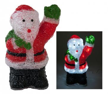 LED Deko Weihnachtsmann mit 40 weißen LED's