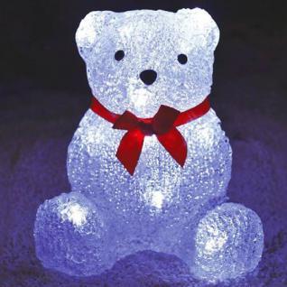 LED-Dekofigur Bär mit Schleife Beleuchtung Weihnachtsdeko Leuchtfigur Acryl Neu
