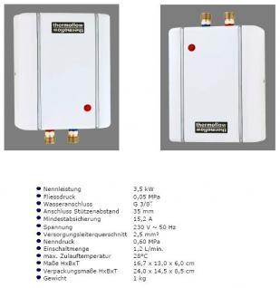 Klein Durchlauferhitzer Thermoflow ELEX 3, 5